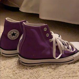 Purple hi-top Converse